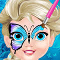 Games Baby Elsa Butterfly Face Art