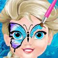 Games Baby Elsa Butterfly Face Art